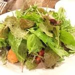 organ - 本日の魚介のフリットと茄子、トマト、葉野菜のサラダ