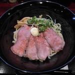 76257267 - ローストビーフ油そば・大盛(麺1.5玉 225g) 890円