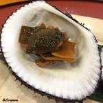 千松しま - 赤貝の肝、昆布、生姜