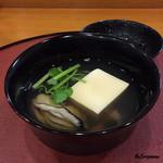 千松しま - 牡蠣と自家製の牡蠣豆腐の吸物