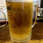 麺飯場 たんや - 生ビール