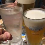 串もん酒場 - まずは酎ハイで乾杯だ〜(๑>◡<๑)