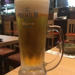 串もん酒場 - 最後はビール。サントリーという会社は嫌いだがこのビールは美味いねー