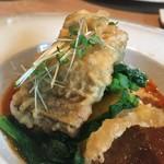 ヤナカ スギウラ - 前菜2:穴子のフリッター