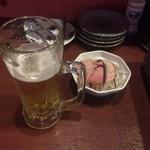 ホルモン居酒屋 とんちゃん焼 ときわ軒 - 生ビールとお通し
