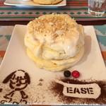 カフェ イーズ - カスタードパンケーキ♡ボリューミーに見えますがペロリと食べられます!
