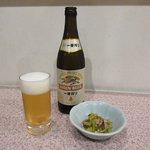 だいちゃん - 料理写真:一番搾り(中瓶)+お通し2017.11.10