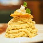 76269205 - デザートセット 1059円 の鹿児島産安納芋のモンブラン