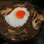 極楽うどん Ah-麺 - お月見黒カレー