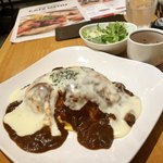 CAFE TONGLLIANO  - とろとろ卵のチーズオムライス 1080円(税別)  雑穀米チョイス