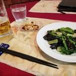 ラス - 野沢菜と小松菜のガーリック炒め