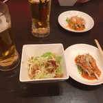 広東料理 東田 - サラダ+バンバンジー