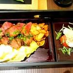 松茸屋 銀座 魚松 - ステーキ膳