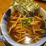 麺屋 湯や軒 - 醤油ミニら~麺(細麺)500円 トッピング:ピリ辛もやし120円