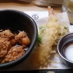 自然海料理 小太郎 - ドリンクセットの1品と小天ぷら