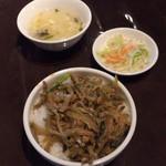 XI'AN - ザーサイ乗せご飯のセット