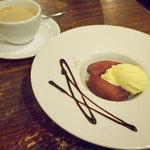 ルーナプレヌ - Bランチのチョイスデザート(りんごのコンポート)