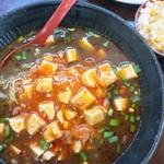 長秀龍 - 料理写真:マーボ黒胡麻担々麺+ミニチャーハン