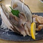 民宿 青塚食堂 - ホッキ貝刺身