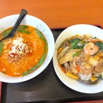 福福 - 台湾味噌と中華丼650円+税