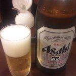 博多麺房 赤のれん - ビール 500円