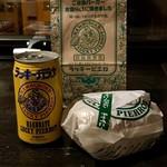 ラッキーピエロ - チャイニーズチキンバーガー350円とラッキーガラナ120円