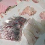 ハーツ - 敦賀産の真鯵と馬面ハギの刺身