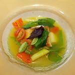 レジーナ イタリアーナ - 魚介のコンフィのスープ仕立て