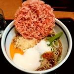 蕎麦一心たすけ - 蕎麦一心たすけ@田町 朝そば・冷・紅しょうが天(340円+130円)