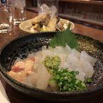 こびき - かわはぎの刺身と天ぷら