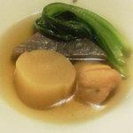 江ど間 - おでん4種盛り(自家製練り物、大根、こんにゃく、小松菜)
