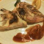 江ど間 - 甘鯛のおかしら塩焼き