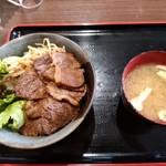 肉屋食堂 たけうち - 黒毛和牛 カルビ丼
