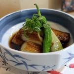 よし春 - 下仁田葱の醤油焼き