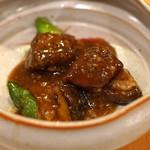 中国料理 琥珀 - 茨城県産ブランド和牛 常陸牛の黒豆味噌炒め