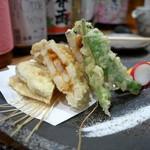 ぼちぼち - 蓮根 海老とウニの挟み揚げ