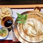 麺喰 - ざるうどん&とり天セット