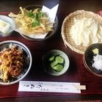 そば処たぬき - 料理写真:そば処 たぬき@館林 ランチBセット+かき揚げ(850円+150円)