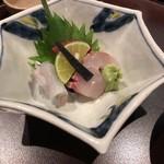 豆水楼 - お刺身(マグロ・しまあじ・ヒラメ)