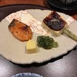豆水楼 - 鮭の西京焼・お麩の田楽