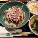 76311215 - 福寿特製ステーキ丼セット