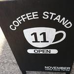 ノベンバー コーヒースタンド - 看板