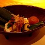 四季会席 香桜凛 - 九絵湯引きと下仁田葱胡麻酢