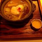 四季会席 香桜凛 - 伊勢海老と揚素麺の野菜餡掛け