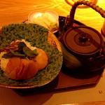 四季会席 香桜凛 - あさりご飯とホタテのプレゼ