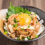 鶏ひさ - 料理写真:京赤地どりの鶏ユッケ