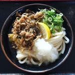 めりけんや - 料理写真:肉ぶっかけうどん (冷)・(大)