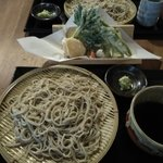 Hiraodaisobadokoroen - 天ぷらそば 1300円