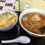 清水屋 - 料理写真:カツ丼ラーメンセット