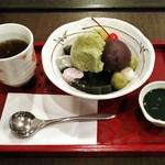 森乃園 - ほうじ茶あんみつ